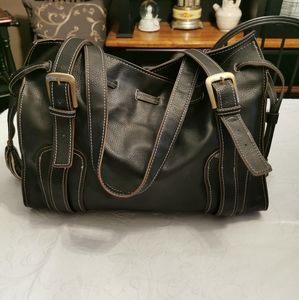 Vintage Tommy Hilfiger Brown Faux Leather Handbag
